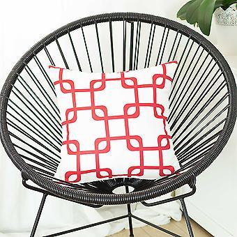 """18 """"x18"""" punaiset geometriset neliöt koriste heitto tyynyn päällinen painettu"""