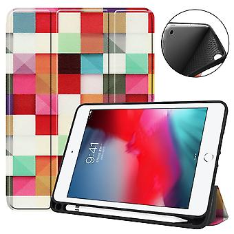For iPad mini 5 (2019) Case,Folio PU Leather 3-fold Sleep/Wake Cover,Magic Cube