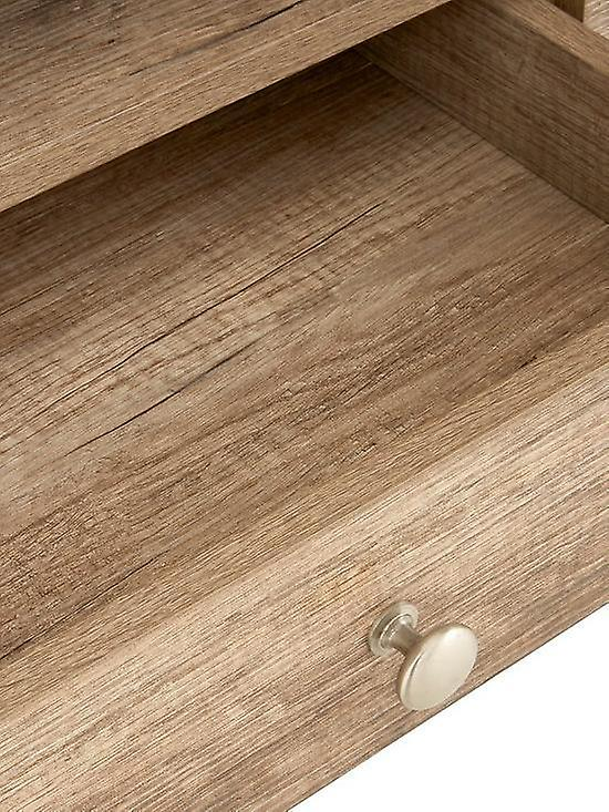 Ideal Home Wiltshire 2 Drawer Coffee Table Rustic Oak RRP £209