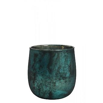 Light & Living Tealight 10x10cm - Sergio Matted Green-Black