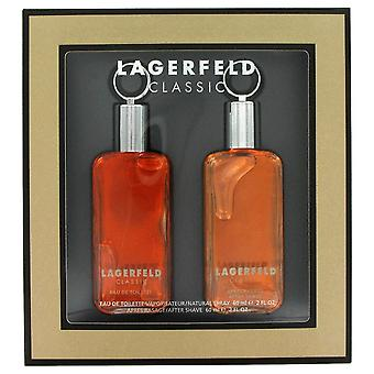LAGERFELD by Karl Lagerfeld Gift Set -- 2 oz Eau De Toilette Spray + 2 oz After Shave / -- (Men)