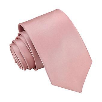 støvete rosa vanlig sateng vanlig slips for gutter