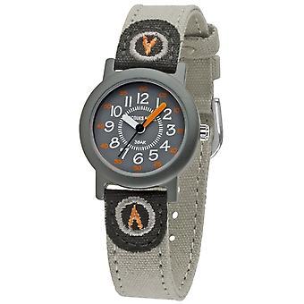 JACQUES FAREL Eco Kids reloj de pulsera analógico cuarzo niños ORG 498 gris