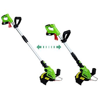 Charles Bentley 20V Portable Cordless Grass Trimmer & Edger Lawn Cutter - Green