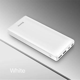 Baseus 30.000mAh External Power Bank Battery Charger Emergency Charger White