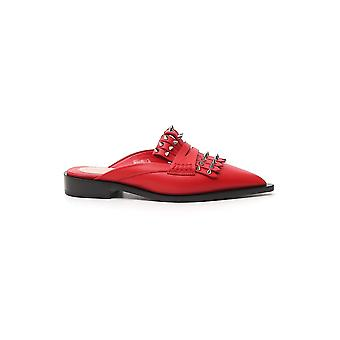 Alexander Mcqueen 586450whxn16454 Women's Red Leather Slippers