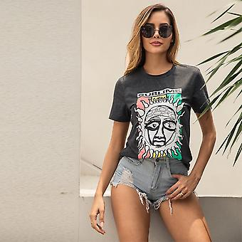 Camiseta e cartoon sun print tee