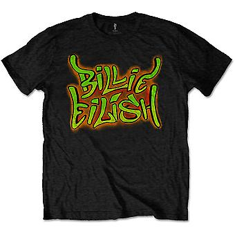 Czarna Billie Eilish Graffiti Logo Official Tee T-Shirt Mens Unisex