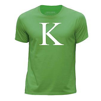 STUFF4 Boy's Round Neck T-Shirt/Alphabet Letter Initial K/Green