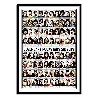Art-Poster - Legendary Rockstars Singers - Olivier Bourdereau 50 x 70 cm