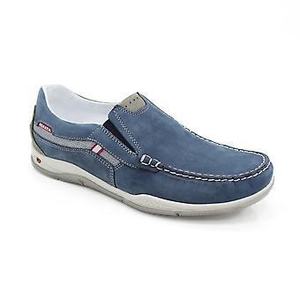 Grisport Claymore Nubuck Blue Boat Shoe