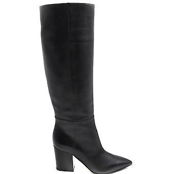 Sergio Rossi Ezbc040019 Women's Black Leather Boots