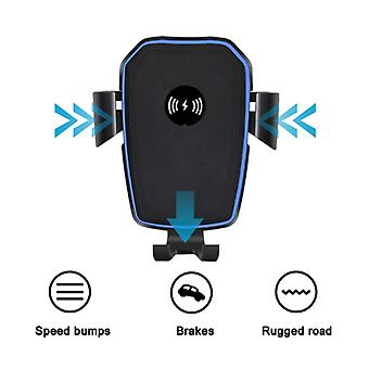 Stuff Certified® 10W Qi Wireless Car Charger With Arm Holder Charger Universal 9V - 1A Wireless Car Charging Pad Black