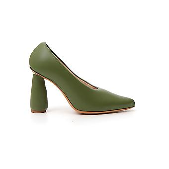 Jacquemus 194fo0419477530 Women's Green Leather Pumps