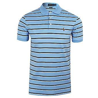 Ralph lauren men's blue striped polo shirt