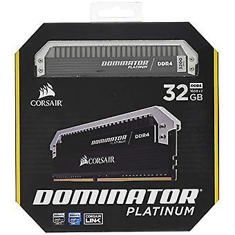 قرصان CMD32GX4M2C3200C16 المسيطر البلاتين عالية الأداء سطح المكتب كيت الذاكرة، DDR4 32 GB، 2 × 16 غيغابايت، 3200 ميغاهرتز، أسود