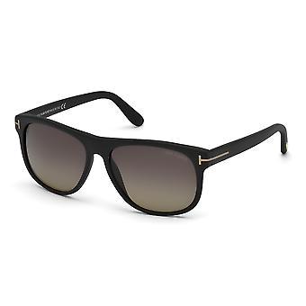 توم فورد أوليفييه TF236 02D ماتي الأسود / الدخان النظارات الشمسية المستقطبة