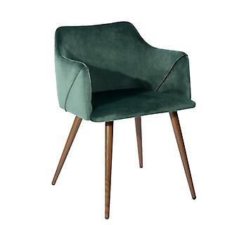 Wood4you - Vincent Velvet grüner Essstuhl - Pariso - Low - Sitzhöhe: 41 cm - 2 Stück