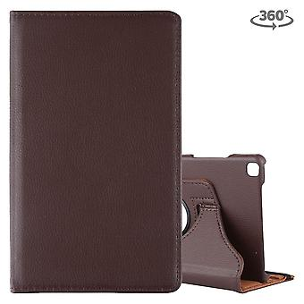 For Samsung Galaxy Tab A 8.0-Inch (2019) Case, Rotating PU Leather Cover with Stand, Brown