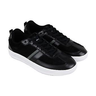 Original Penguin Braiden  Mens Black Leather Low Top Sneakers Shoes
