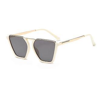 Vintage Half Frame zonnebril UV400 Witte Gigi