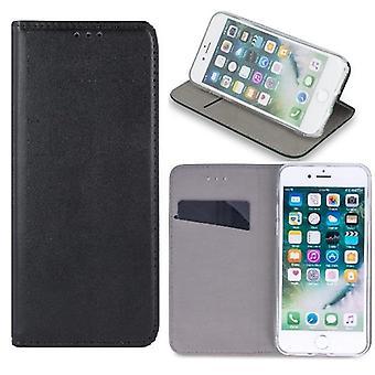 iPhone XR - älykäs magneettinen kotelo mobiili lompakko - musta
