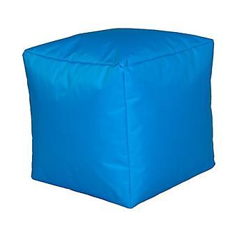 Seat cube nylon turquoise size 40 x 40 x 40 with filling