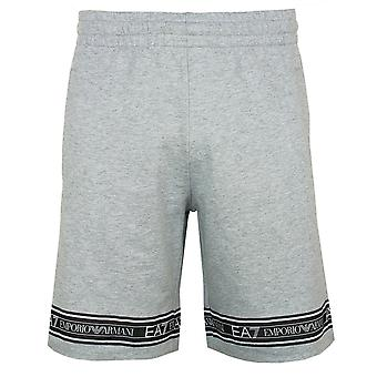 Ea7 emporio armani men's taped light grey melange shorts