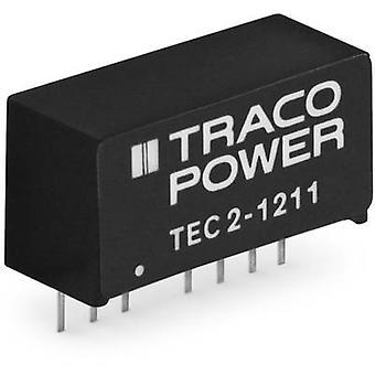 TracoPower TEC 2-0923 DC/DC ממיר (הדפסה) 9 V DC 67 mA 2 W לא. של תפוקות: 2 x