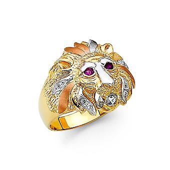 14k sárga arany fehér arany és rózsa arany CZ cubic cirkónia szimulált Diamond férfi gyűrű mérete 10 ékszer ajándékok férfiaknak