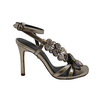 Coach Bianca Ankle Strap Sandals, Champagne Size 6.5M