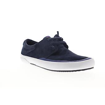 Camper Peu Rambla Rail  Mens Blue Suede Lace Up Low Top Sneakers Shoes