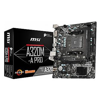 MSI A320M-A Pro mATX DDR4 AM4 Mutterkarte
