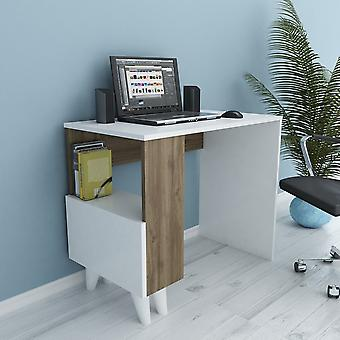 Bureau Paris White Color, Walnut in Melaminic Chip, L90xP50xA75 cm