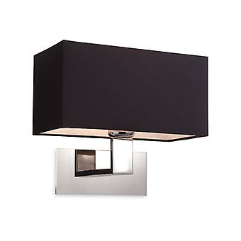 Prince Wall Lamp, Steel, With Black Lampshade