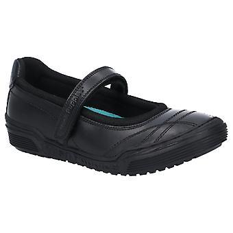 Hush puppies men's amelia jnr touch fastening school shoe black 28975