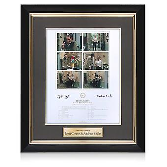 John Cleese And Andrew Sachs Signed Fawlty Towers Print. Deluxe Framed