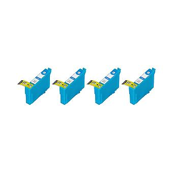 RudyTwos 4x Replacement for Epson 35XL(Padlock) Ink Unit Cyan Compatible with WorkForce Pro WF-4720DWF, WF-4725DWF, WF-4730DTWF, WF-4730DWF, WF-4740DTWF, WF-4740DWF