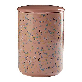 Pink Terrazzo Large Canister, 1L