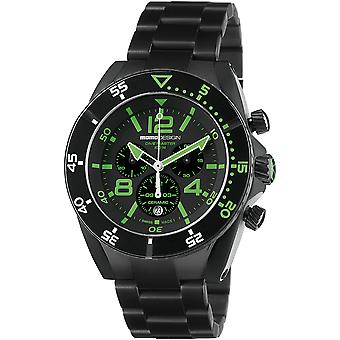 MOMO Design Dive Master Watch MD1281BK-30 - Plated Stainless Steel Gents Quartz Chronograph