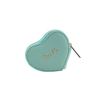 CGB Giftware Willow And Rose Sparkle Teal Heart Purse