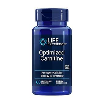 Optimized Carnitine 60 vegetable capsules