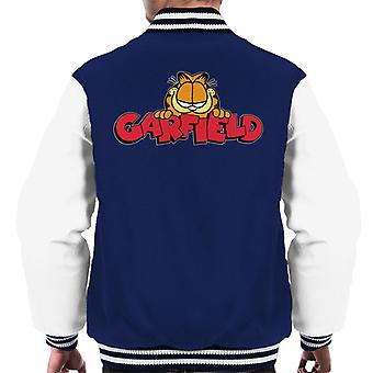 ガーフィールド スマイル クラシック ロゴ メンズ&アポス;s ヴァーシティ ジャケット