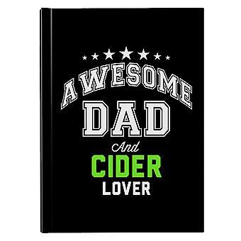 Awesome pappa og cider lover hardback journal