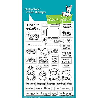Gazon Fawn Say What? Spring Critters Duidelijke Postzegels