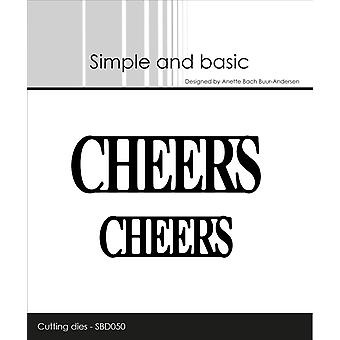 Simple and Basic Cheers Cutting Die