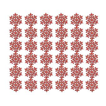 36PCS Christmas Tree Snowflake Decorations Red
