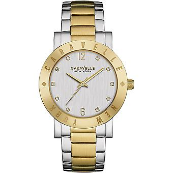 Caravelle Watch 45L151 - Plated Stainless Steel Ladies Quartz Analogue