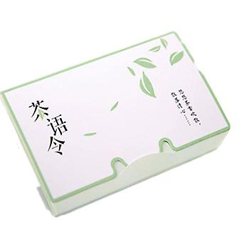 Tissue Papers, Green Tea Smell Makeup Cleansing, Oil Absorbing Face Paper