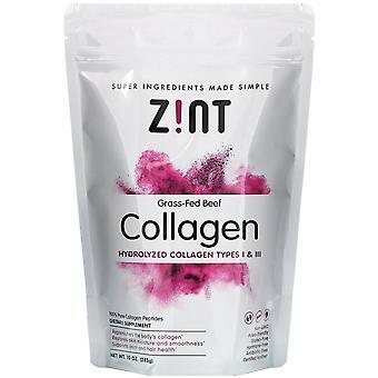 Zint, Grass-Fed Beef Collagen, Hydrolyzed Collagen Types I & III, 10 oz (283 g)